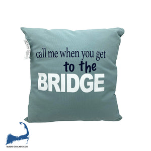 Cape Cod Bridge Pillow Teal