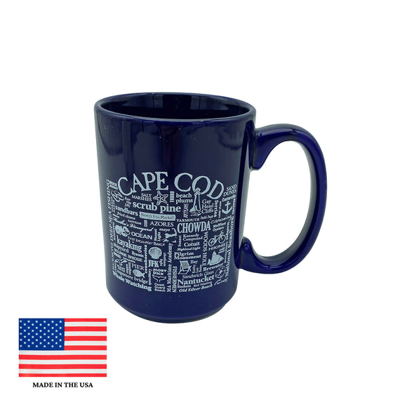 Cape Cod Sayings Mug Blue