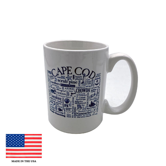 Cape Cod Sayings Mug White