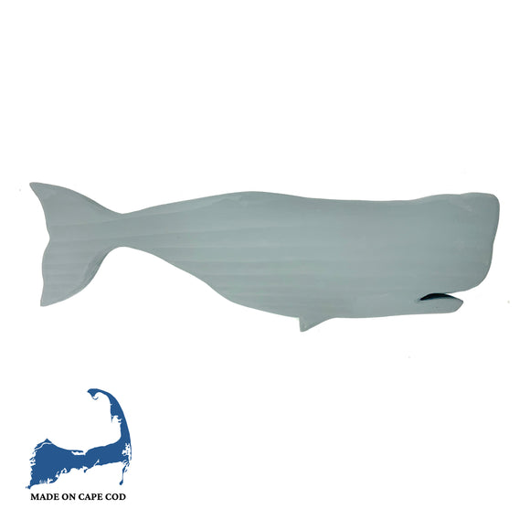 Wood Carved Whale Wall Decor MD Grey