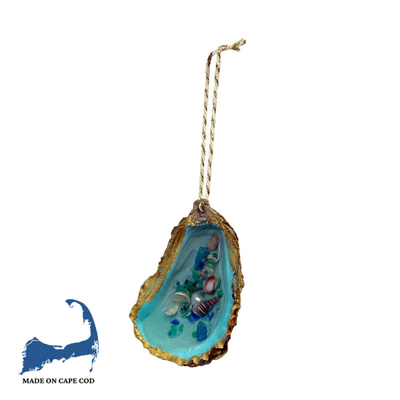 Resin Filled Oyster Shell Ornament