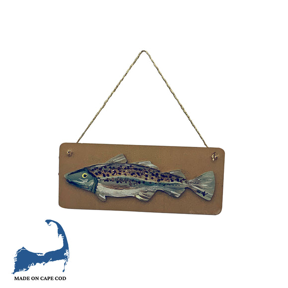 Mini Hand Painted Cod Fish Plaques