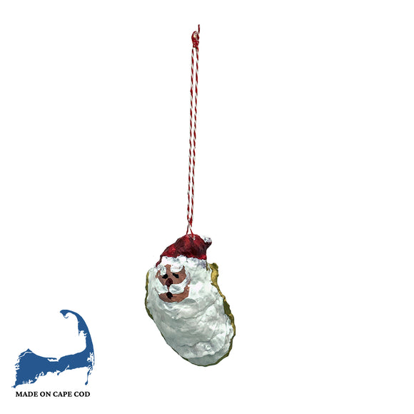 Santa Claus Painted Oyster Shell Ornament