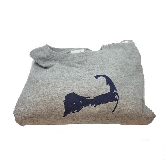 Cape Cod Long Sleeve T-Shirt Gray
