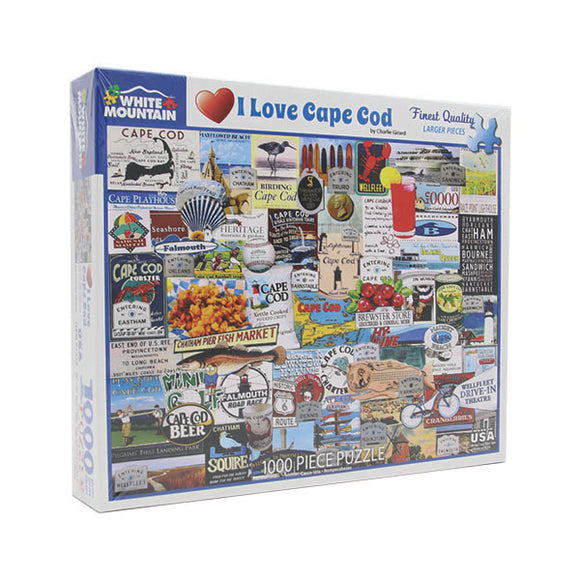 I Love Cape Cod 1000 Piece Puzzle