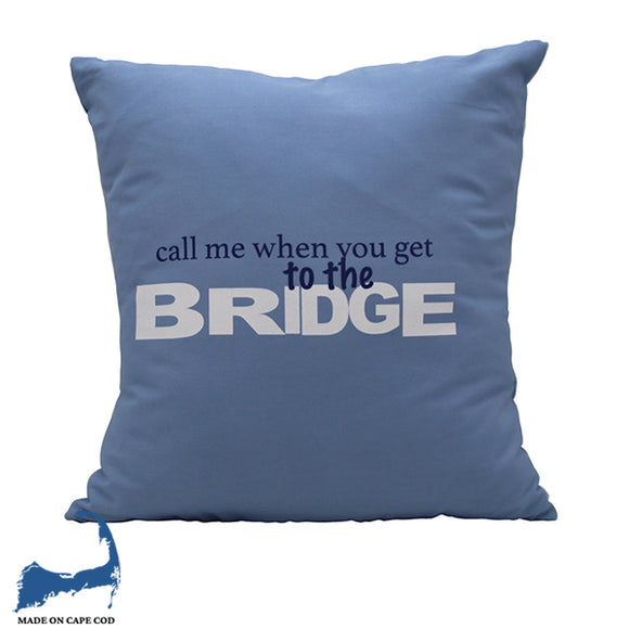 Bridge Pillow Blue