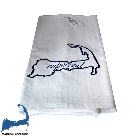 Cape Cod Outline Tea Towel