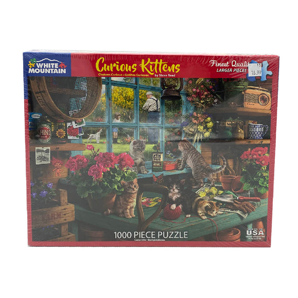 Curious Kittens 1000 Piece Puzzle