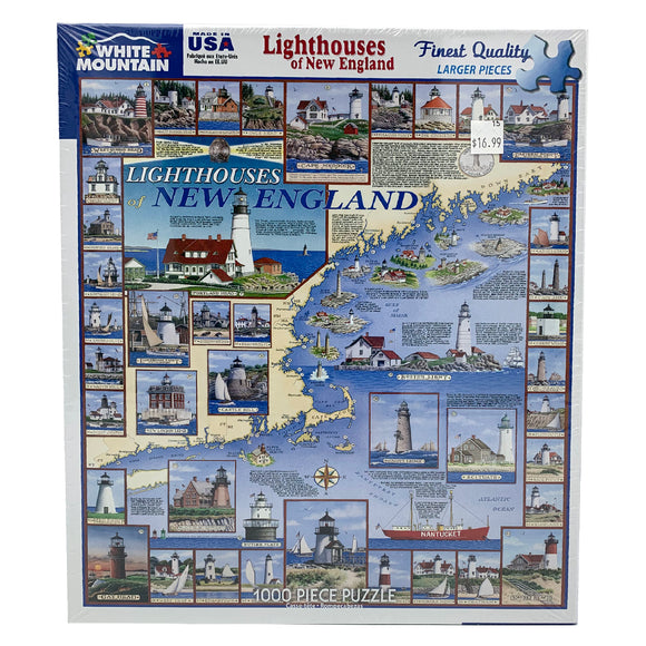 Lighthouses of New England 1000 Piece Puzzle