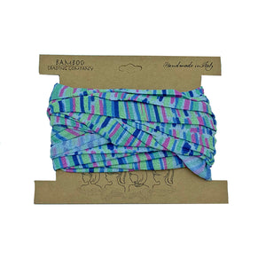 Blue Striped Head Wrap