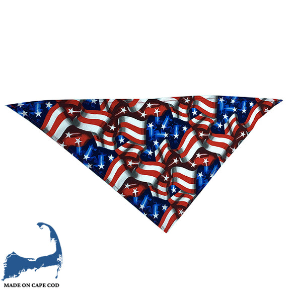 American Flag Collage Bandana