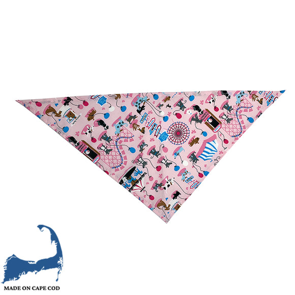 Pink Dogs In The Park Bandana