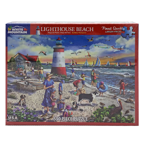 Lighthouse Beach 550 Piece Puzzle