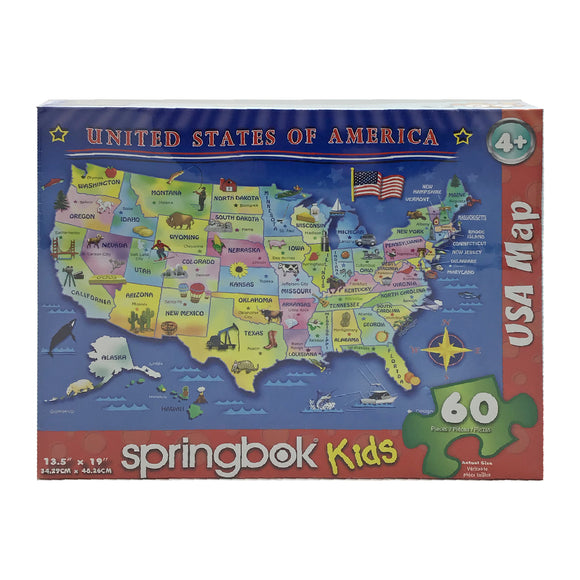 USA Map Kids 60 Piece Puzzle