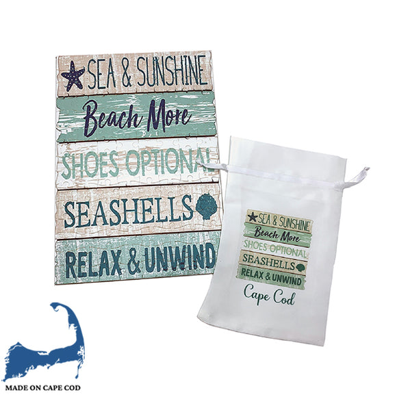 Cape Cod Beach Sign 120 Piece Puzzle