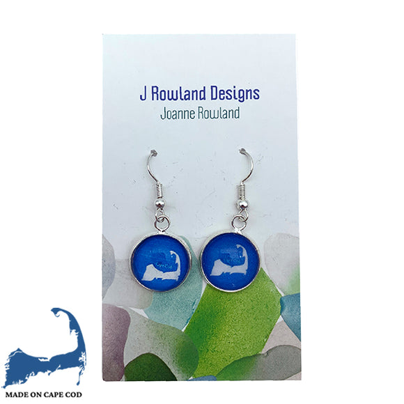 Cape Cod Map Dangle Earrings
