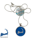 Cape Cod Map Pendant Necklace