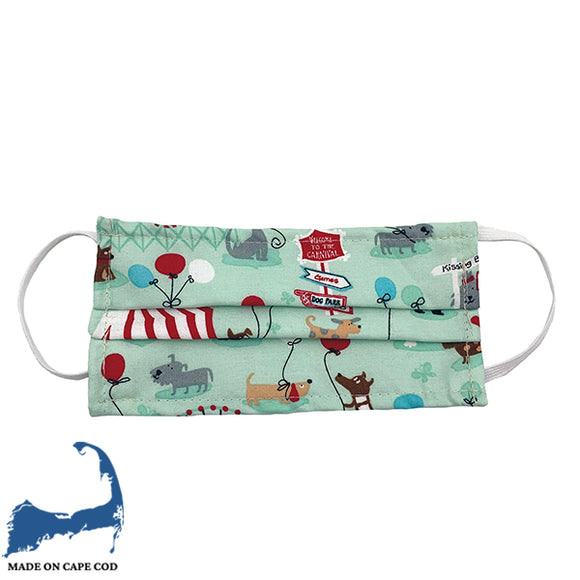 Dog & Balloons Cloth Face Mask