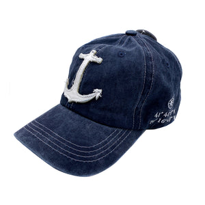 Navy Anchor Cape Cod Hat