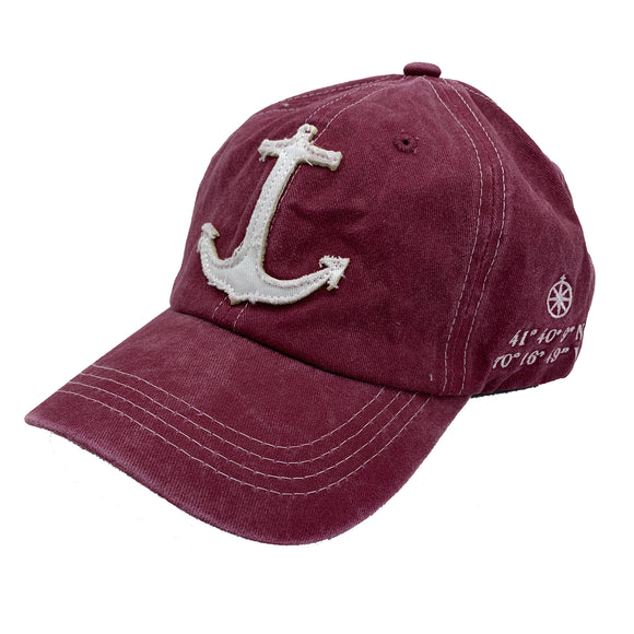 Maroon Anchor Cape Cod Hat