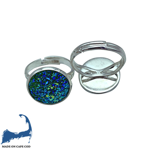 Turquoise Sparkle Adjustable Ring
