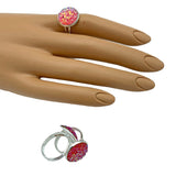 Pink Sparkle Adjustable Ring