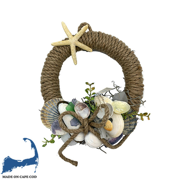 Shell & Rope Handmade Wreath