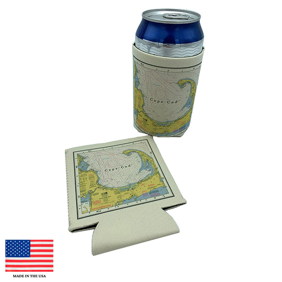 Cape Cod Nautical Chart Koozie