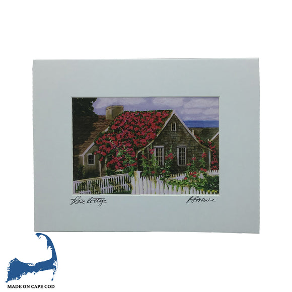 Rose Cottage Matted Print by Peter Saverine