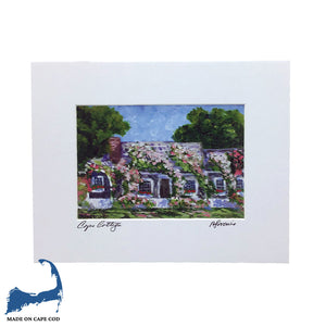 Cape Cottage Matted Print by Peter Saverine