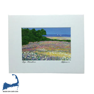 Cape Meadow Matted Print by Peter Saverine