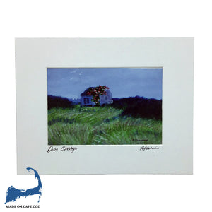 Dune Cottage Matted Print by Peter Saverine