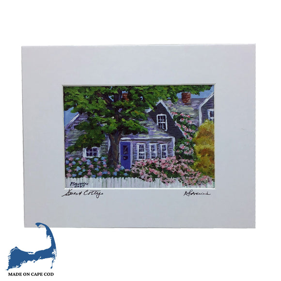 Guest Cottage Matted Print by Peter Saverine