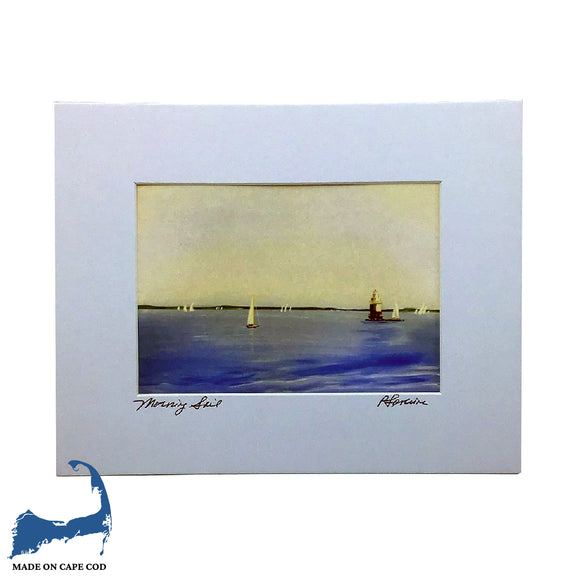Morning Sail Matted Print by Peter Saverine