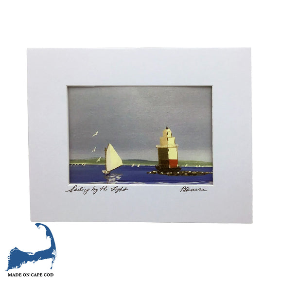 Sailing By The Light Matted Print by Peter Saverine