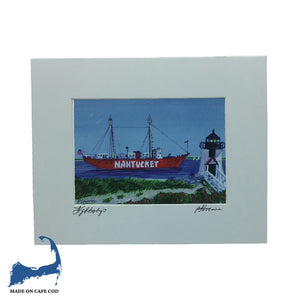 Lightship Matted Print by Peter Saverine