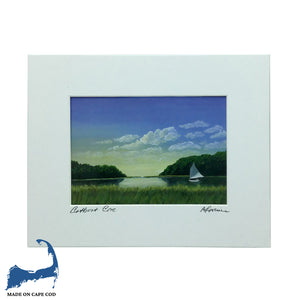 Catboat Cove Matted Print by Peter Saverine