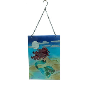Mermaid Glass Window Hanger