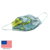 Cape Cod Nautical Chart Face Mask