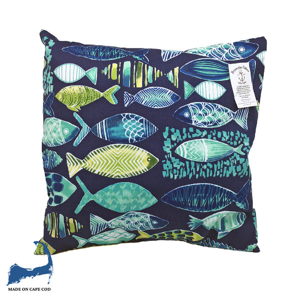 Fish Pattern Pillow