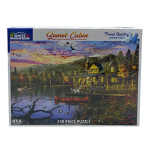 Sunset Cabin 550 Piece Puzzle