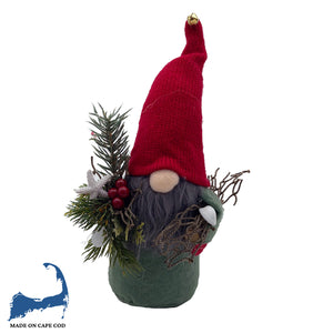 Coastal Christmas Red Hat Gnome Sitter, SM