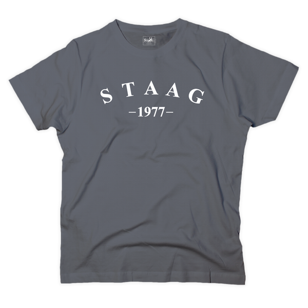 Half moon graphic charcoal t-shirt - T-shirt - StaaG®