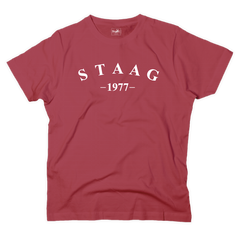 Half moon graphic red t-shirt - T-shirt - StaaG®