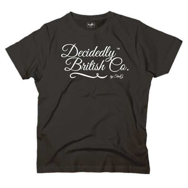 Decidedly British Co graphic black t-shirt