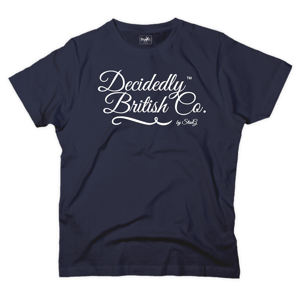 Decidedly British Co graphic navy t-shirt