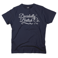 Decidedly British Co graphic navy t-shirt - T-shirt - StaaG®