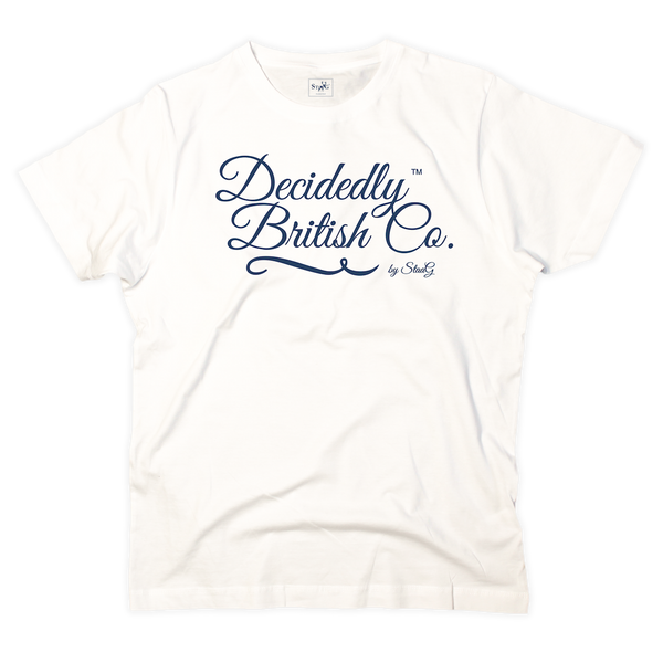 Decidedly British Co graphic white t-shirt - T-shirt - StaaG®