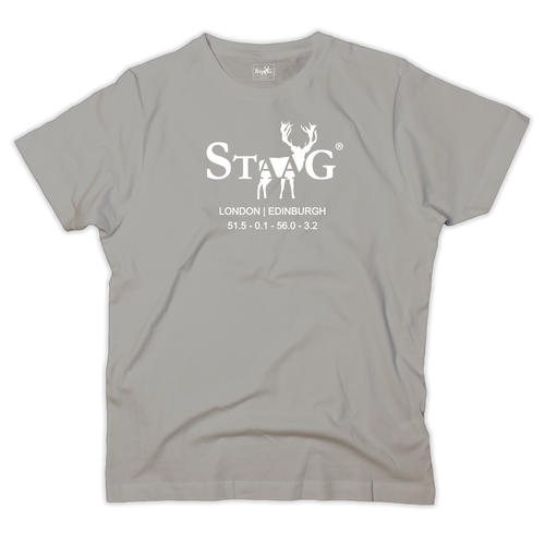 Coordinates graphic grey t-shirt - T-shirt - StaaG®