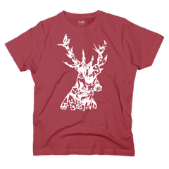 'Animals in stag' graphic red t-shirt - T-shirt - StaaG®